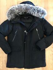 Men michael kors black down coat with fox fur hood Winter Jacket Coat M $980