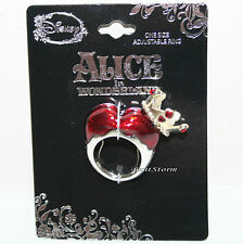 Disney Alice In Wonderland Red Queen Of Hearts Crown costume ring Adjustable