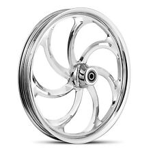 """DNA """"STORM"""" CHROME FORGED BILLET 21"""" X 3.25"""" FRONT WHEEL HARLEY SOFTAIL"""
