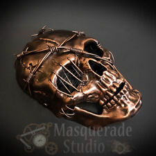Men's Steampunk Full Face Skull Halloween Costume Masquerade Mask [Copper]