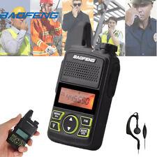 1PC Baofeng MINI Walkie-Talkie BF-T1 UHF 400-470MHz FM Radio Mit Kopfhörer 20CH