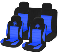 8pc Universal Car Seat Covers Set Protectors Washable Dog Pet Front Rear Blue