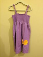 Hanna Andersson Girls Purple Spaghetti Strap Dress Size 120 NWT Free Shipping