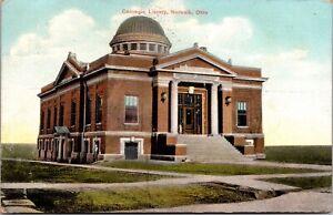 Postcard Carnegie Library in Norwalk, Ohio~988