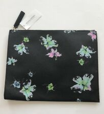 Retail $48 Banana Republic EXPANDABLE POUCH style #480422 ~ DARK GRAY FLORAL