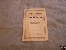 Resilient Materials Construction Petroleum Ind 1939
