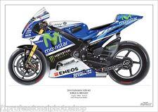 Jorge Lorenzo 2014 ltd.ed. art print/250 Yamaha YZR-M1