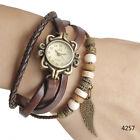Vintage Floral Dial Design Fashion Lady Girl Women Quartz Wrist Watch Bracelet M