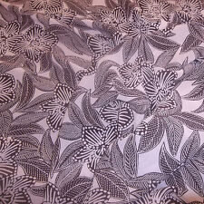 Mauve with Brown Floral Print Sheer Georgette (60'' Wide) New SS14