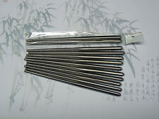 1 par Palillos De Metal De Acero Inoxidable Corto Niño longitud-Nuevo-UK Post