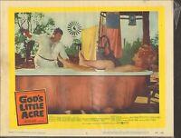 1958 MOVIE LOBBY CARD #2-939 - GOD'S LITTLE ACRE - BATH TUB - BUDDY HACKETT