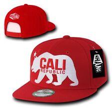 Red California Cali Republic Bear Gomdori Snapback Snap Back Cap Caps Hat Hats