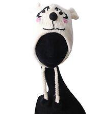 Lustige Strickmütze Mütze aus Wolle Eisbär