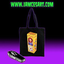 Good Guy Doll Black Tote bag Horror Evil Scary Chucky Child's Play iamcesart