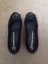F&F Sensitive Sole Black Ballerinas With Platform Heels