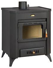 Poêle à bois cheminée multi CARBURANT brûleur Foyer verre 15kW PRITY WD R