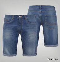 Mens Firetrap Slim Cut Casual Classic Denim Shorts Sizes from S to XXL