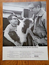 1969 Gmac Finance Ad Old English Sheep Dog