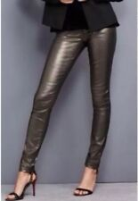 BNWT NEXT BRONZE GOLD GLITTER SKINNY LEGGINGS JEANS STRETCH SZ 18 PETITE NEW