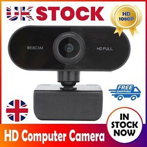 1080P HD Webcam Camera USB Video Cam with Microphone for PC Mac Desktop Laptop