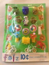 Vtg Folz Vending Monster Dexterity Mechanical Toy Spider Ring Lucky Tooth Panda