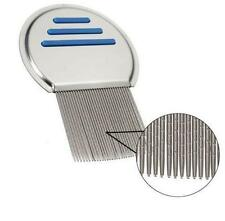 Hair Lice Comb Brushes Nit Free Terminator Fine Dust Removal Stainless Steel Hot
