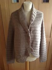 GREAT LAURA ASHLEY BEIGE LADIES CARDIGAN UK SIZE 20 NWOT