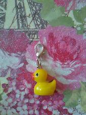 Ente gelb als Charm Anhänger f. Bettelarmband gelbes Entchen für Armand K9
