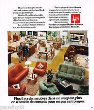 PUBLICITE ADVERTISING 055  1973  MOBILIER DE FRANCE  magasin de meubles