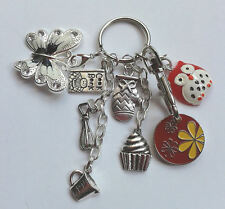Cooking Bag Keyring Key Ring Gift - Oven Glove/Whisk/Jug - Flower Trolley Token