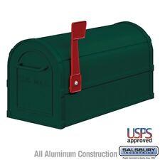 "Salsbury Heavy Duty Rural Mailbox - Green-MAILBOX 4850GRN 7.5"" x 9.5"" x 20.5"""