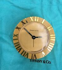 Tiffany and Co. Atlas Desk or Bedside Round Alarm Clock - Not working, For Parts