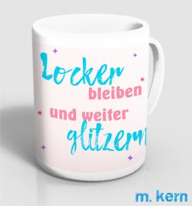 Tassen Locker bleiben weiter glitzern 9,5 cm Einhorn Kaffee Becher Keramik