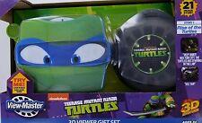 NEW ~ TEENAGE MUTANT NINJA TURTLES ~ VIEW-MASTER 3D VIEWER & 3 REELS GIFT SET