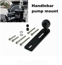 Motorcycle Handlebar Pump Mount W/ 1inch Ball Compatible for Phone Mounts Holder