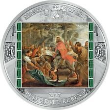 Cook Islands 2017 20$ Christ entry into Jerusalem - Masterpieces of Art Rubens