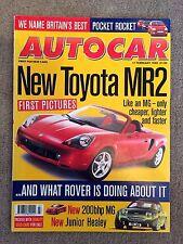 AUTOCAR MAGAZINE 17-FEB-99 - Honda HR-V, Peugeot 106 GTi, Toyota Corollo G6R