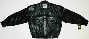 Chevy Corvette C5 Leather Bomber Jacket Official GM Licensed *NEW* NWT