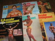 Lot Of 6 Muscular Development Bodybuilding Magazines/1982 COMPLETE YEAR