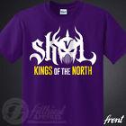 SKOL Vikings T-Shirt Kings Shield The North Chant Minnesota Football Fan Jersey