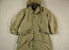 WWII WW2 US NAVY N-2 N-1 N140 HOODED ALPACA LINED DECK PARKA COAT USN 38/40/42
