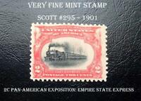US VF Mint Stamp   #295 – 1901 2c Pan-American Exposition: Empire State Express