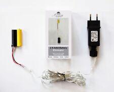Batterie Netzteil Adapter 2x AAA Micro Batterien 3,2V Wandler 4m Kabel Netzteil