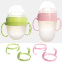 2pcs Baby Feeding Bottle Trainer Easy Grip Plastic Handles Holder for Comotomo