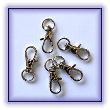5 Stück Karabinerhaken mit Wirbel Schlüsselanhänger Basteln Neu