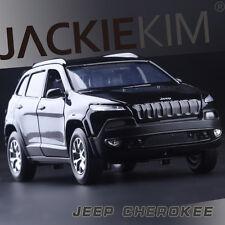 1:32 Jeep Cherokee SUV Alloy Diecast Car Model Toy Sound&Light black B2791