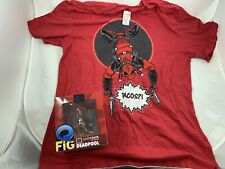 Loot Crate Lot Of Dead Pool Q Fig & Dead Pool T-Shirt XL Extra Large NEW