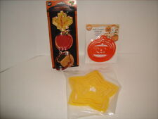 3 Wilton Cookie Cutter Sets Fall Festival- Pumpkins & Graduated Size Stars