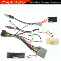1*Car Stereo 20Pin Wiring Harness Connector Wire For 1 2 Din Android Multimedia