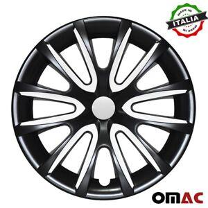 "14"" Inch Hubcaps Wheel Rim Cover For Buick Glossy Black White Insert 4pcs Set"